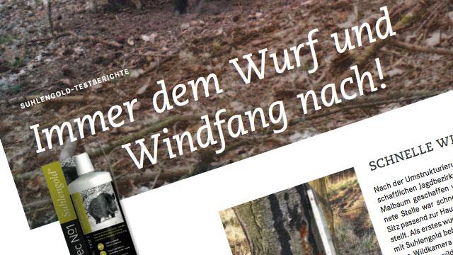 """Immer dem Wurf und Windfang nach – """"Unsere Jagd""""-Leser testen AttraTec No 1 Suhlengold"""